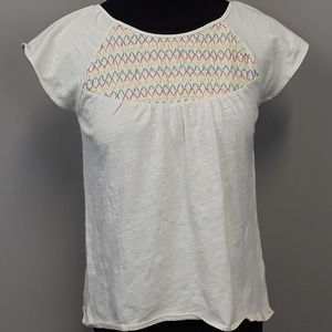 Lucky Brand girls embroidered top size large